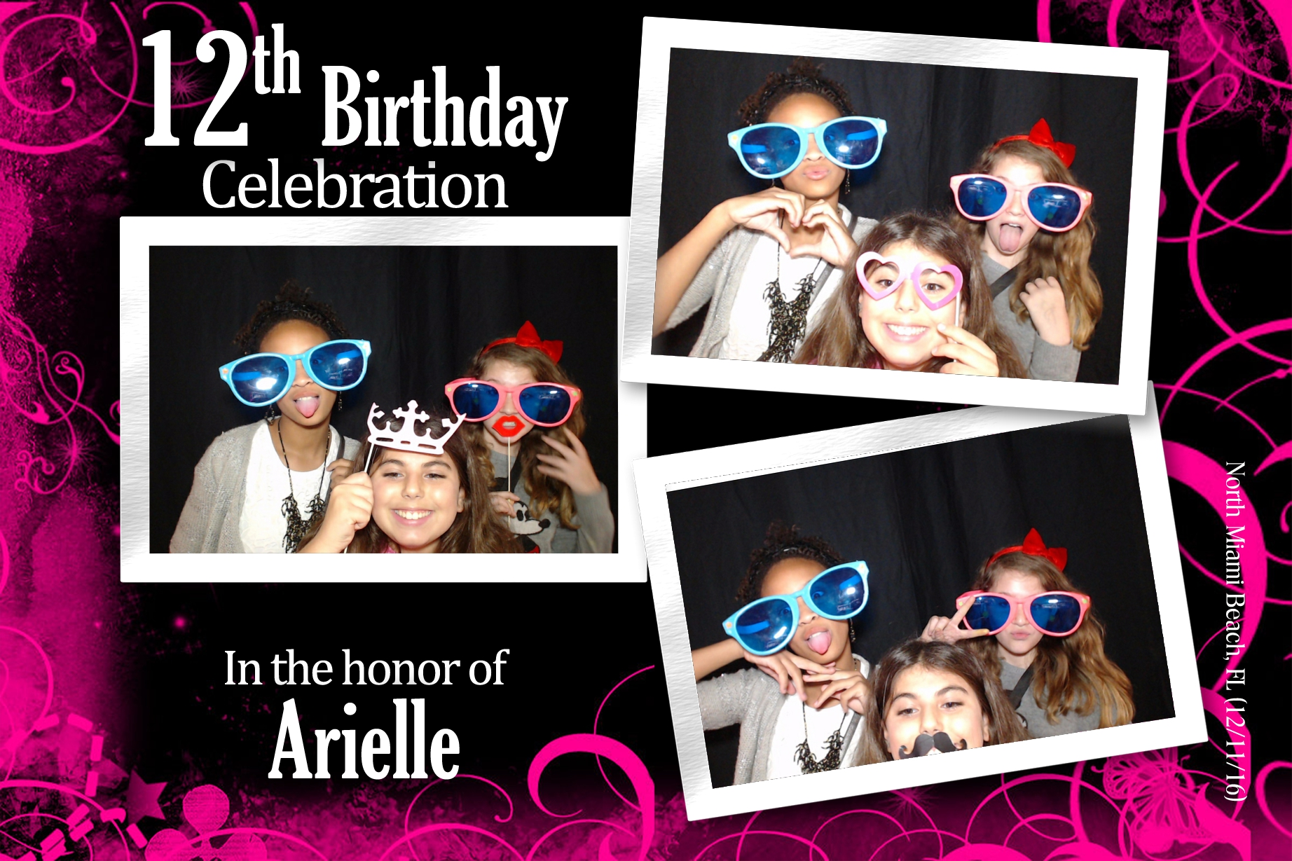 Partyflix Basic Photo booth rental in Miami Package