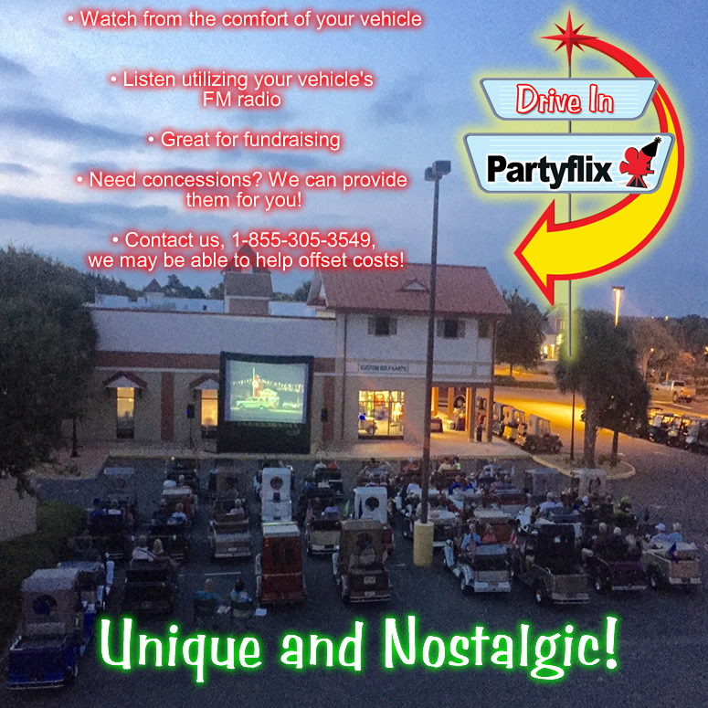 Partyflix® Mobile Drive In Movies