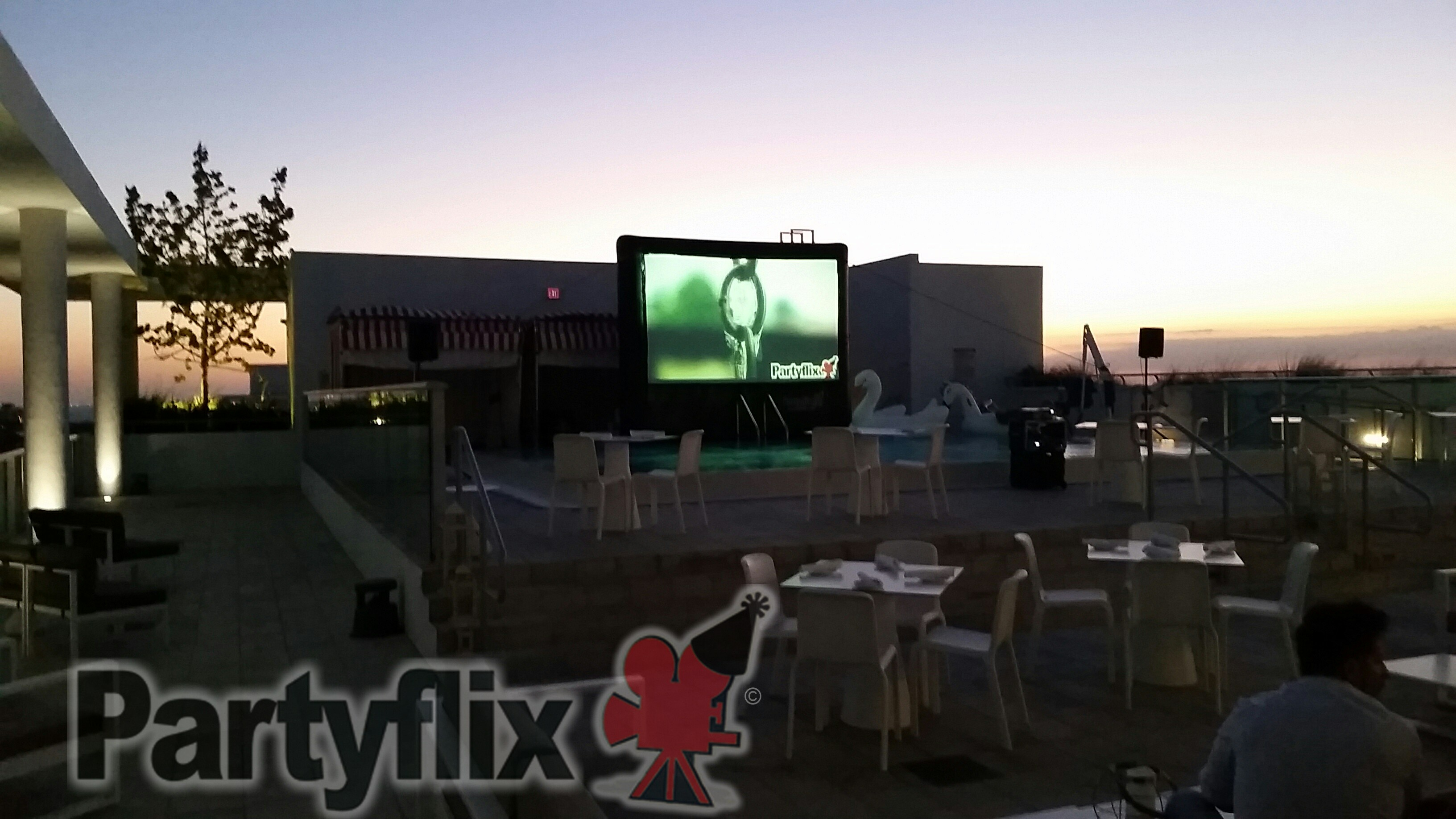 18ft Inflatable Movie Screen Rental in San Antonio
