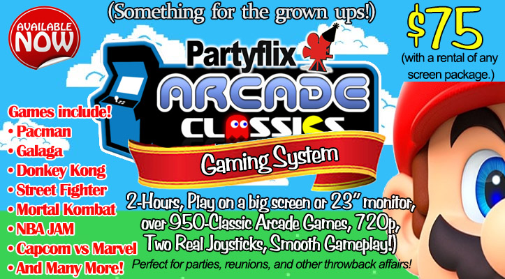 Partyflix® Arcade Classics Gaming System, Play over 950 games.