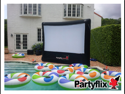 Partyflix offers inflatable movie screen rentals in Miami