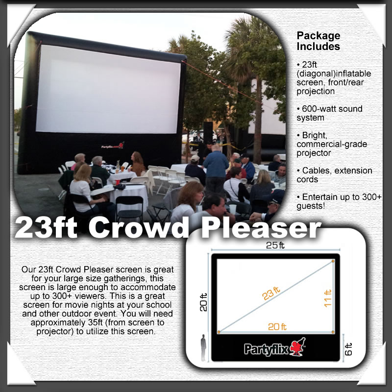 23ft Partyflix Crowd Pleaser Outdoor Inflatable Movie Screen
