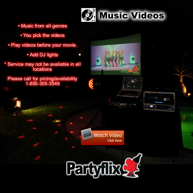 Add Video DJing Services to any Big Screen Package.