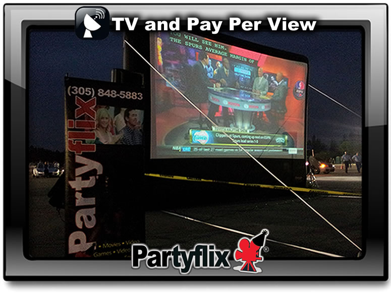 We can display TV and Pay Per View on our Big Screens!