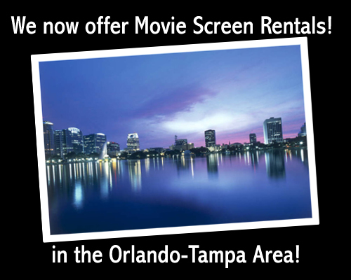 Inflatable movie screen rental in Orlando! | Partyflix®