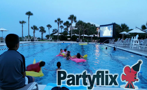 18ft Jacksonville Dive In Inflatable Movie Screen
