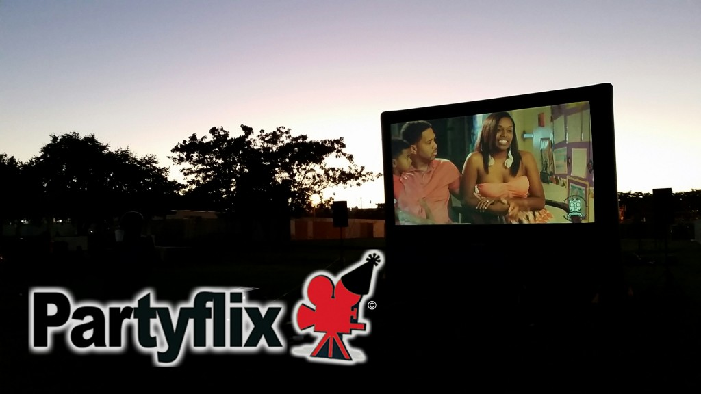 23ft Partyflix Crowd Pleaser Outdoor Movie Screen Rental in New Orleans