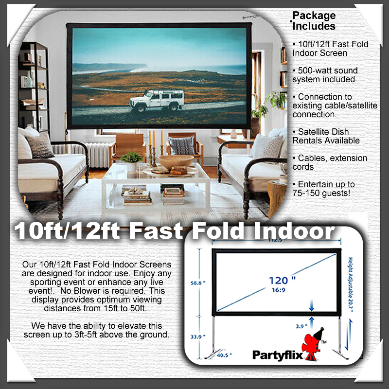 10ft/12ft Fast Fold Indoor Screen