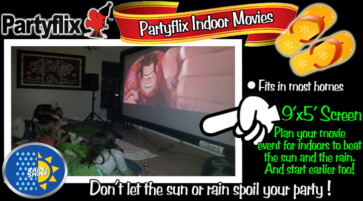 Indoor Movie Package Includes Inflatable Screen Rental and Free Delivery