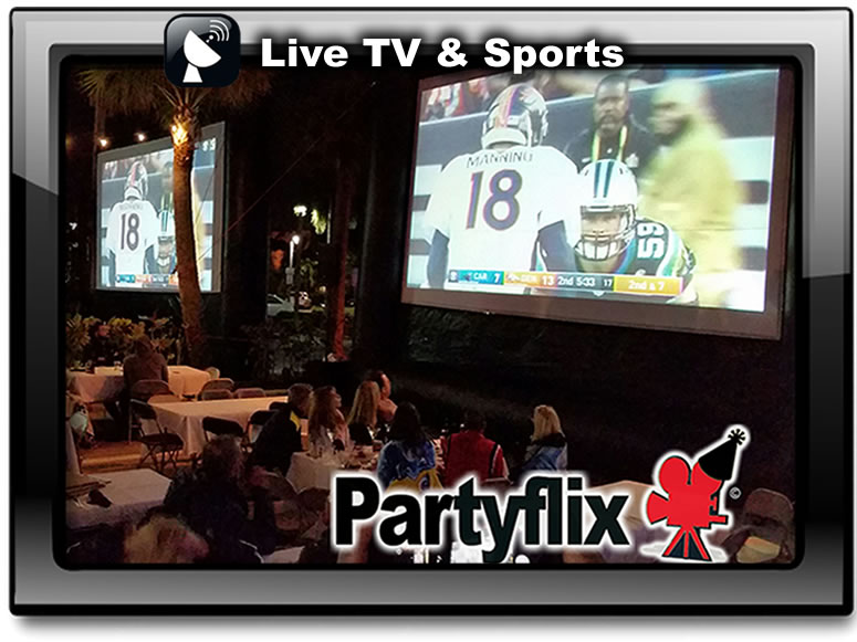 Sports and Pay Per View are awesome on our Big Inflatable Screens