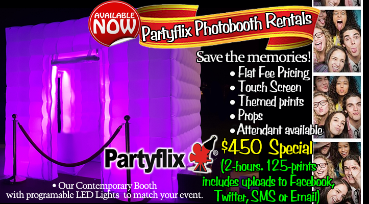 Photo Booth Rental Package Includes Prints and Free Delivery