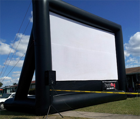 Inflatable Movie Screen, Frame Style
