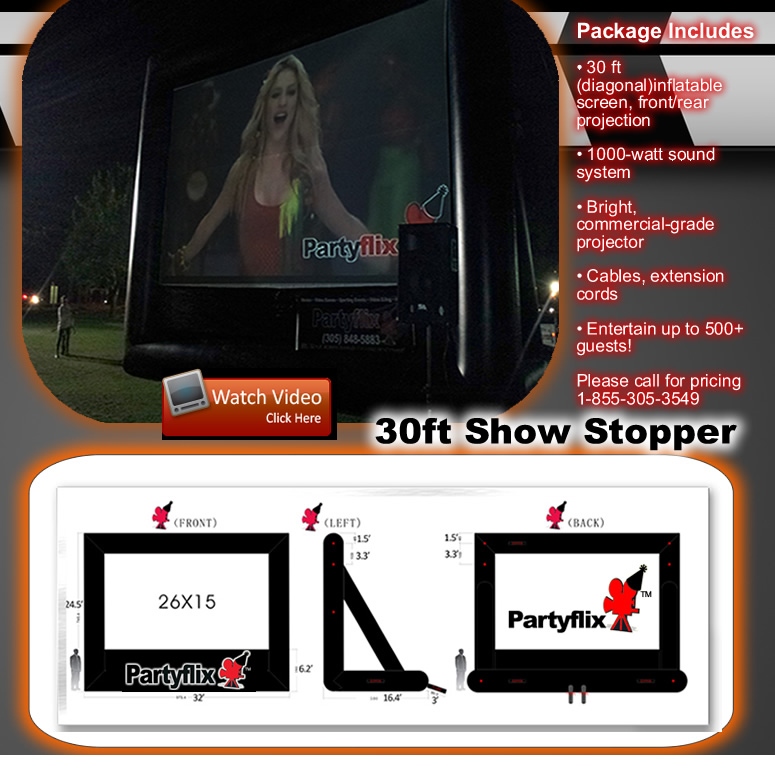 30ft Show Stopper Inflatable Movie Screen