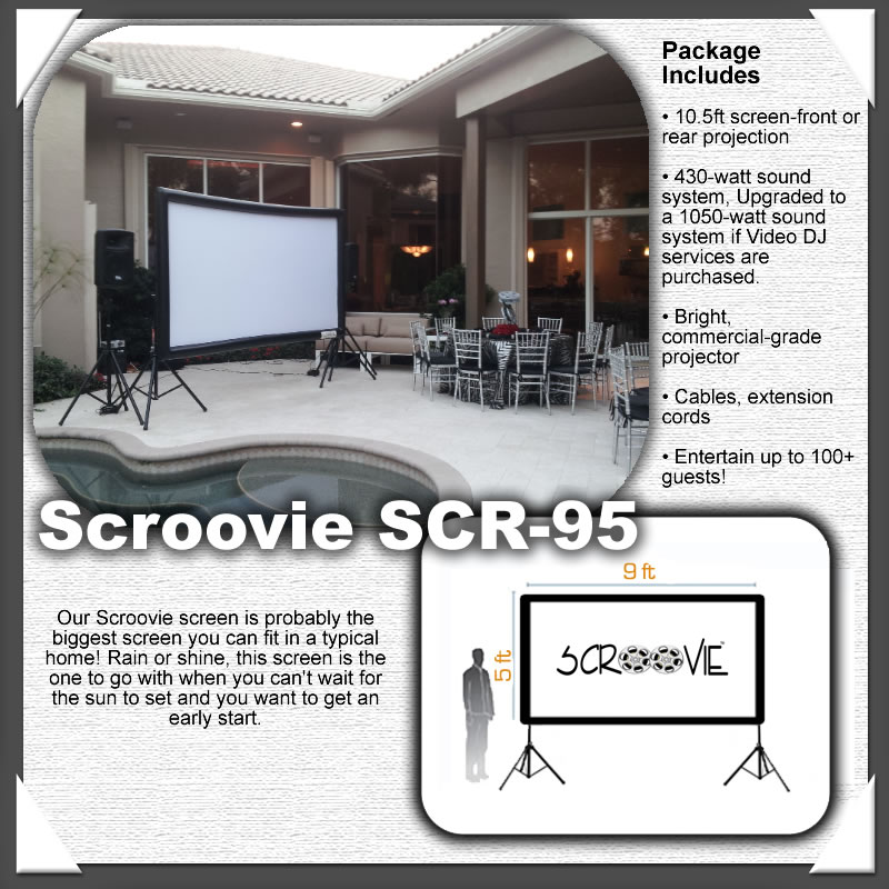 Scroovie SCR-95 Indoor Projection Screen