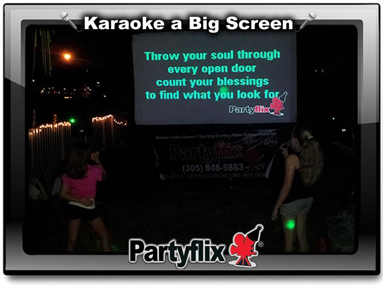 Karaoke on a Big Inflatabe Screen!