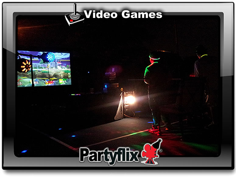 Video Games are awesome on our Big Inflatable Screens