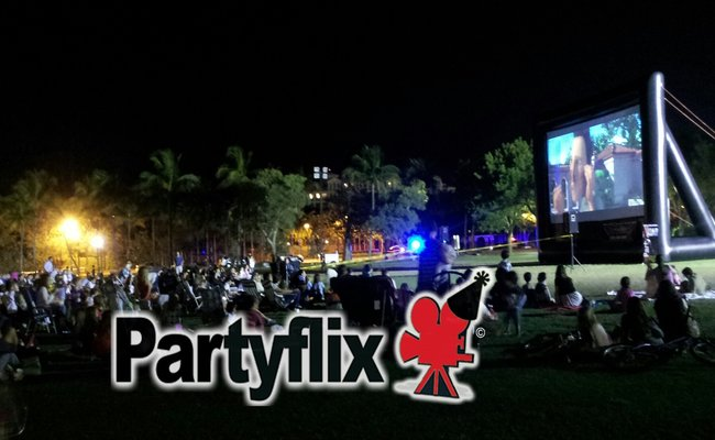 Another Florida, Movie Night with Partyflix Big Inflatable Movie Screen Rentals