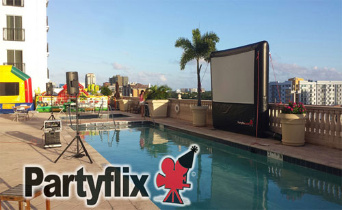 12ft PARTY STARTER Inflatable Movie Screen (Miami, FL)