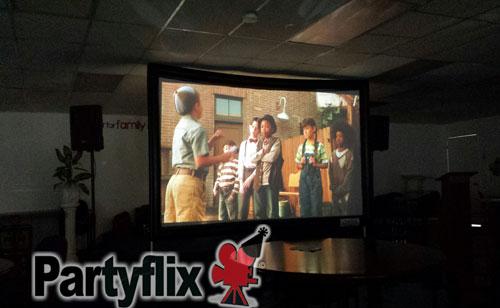 Scroovie Indoor Movie Screen Setup (Miami, FL)
