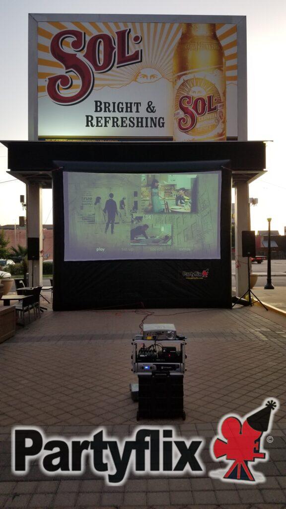18ft Partyflix Main Event Screen, Dallas, Texas