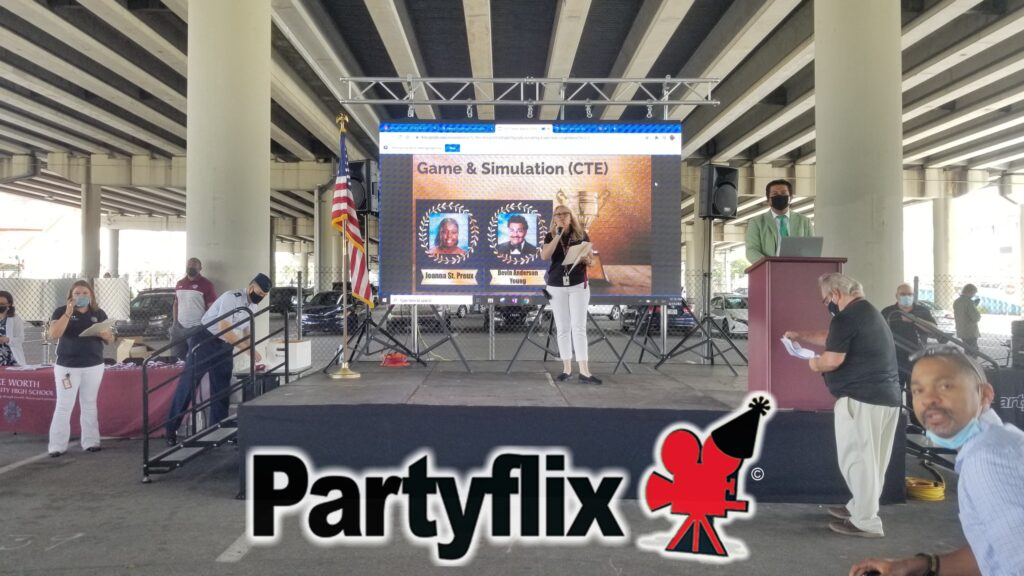 12ft Partyflix P5 Game Changer LED Wall