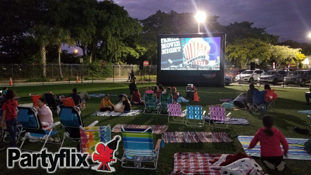 23ft Partyflix Crowd Pleaser Inflatable Screen, Aventura, Florida
